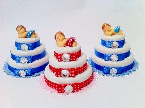 Lembrancinhas feitas com tampas de garrafa - mini bolo
