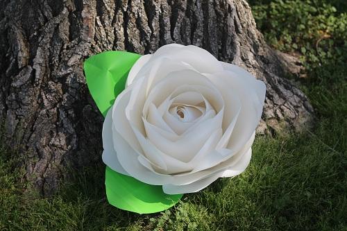 como fazer flor de papel gigante