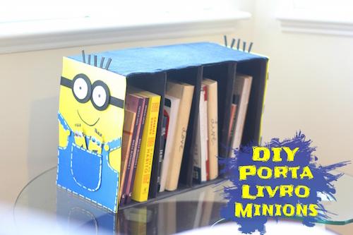 DIY - Porta Livro feito com Caixa de Sapato