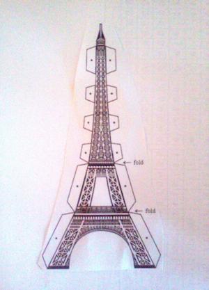 Molde Porta Recado Torre Eiffel Show De Artesanato