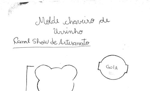 Molde Ursinho De Eva Show De Artesanato